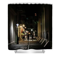Night On Pirate Alley Shower Curtain
