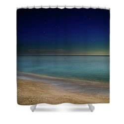 Night On Sanibel Island Beach Shower Curtain