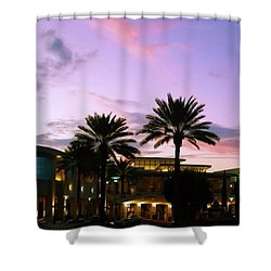 Night On The Town Palm Beach Florida Photo 515 Shower Curtain