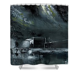 Shower Curtain featuring the painting Night Out by Anil Nene
