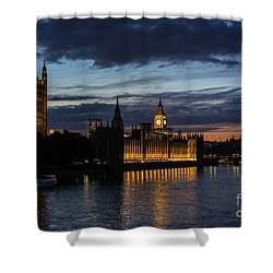 Night Parliament And Big Ben Shower Curtain