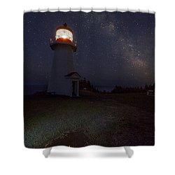 Night Reflection Shower Curtain