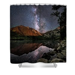 Night Reflections Shower Curtain by Melany Sarafis