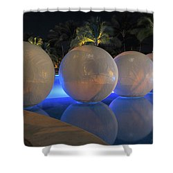 Shower Curtain featuring the photograph Night Reflections by Shane Bechler