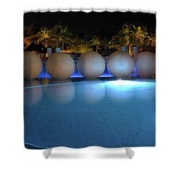 Shower Curtain featuring the photograph Night Resort by Shane Bechler