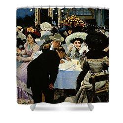 Night Restaurant Shower Curtain by MG Slepyan