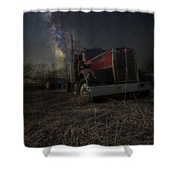 Night Rig Shower Curtain