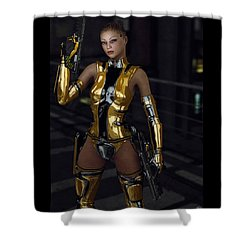 Night Runner Shower Curtain