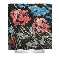 Night Shade Shower Curtain by Judith Espinoza