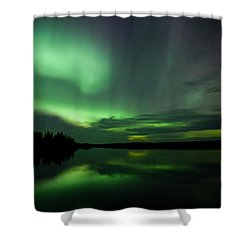 Shower Curtain featuring the photograph Night Show by Yvette Van Teeffelen