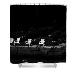 Night Sitting Shower Curtain