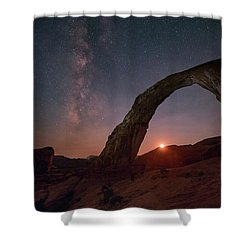 Night Sky At Corona Ach Shower Curtain