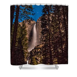 Night Sky At Yosemite Falls Shower Curtain