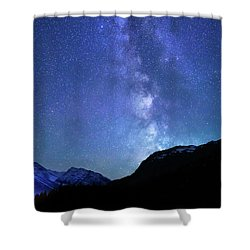 Night Sky In David Thomson Country Shower Curtain by Dan Jurak