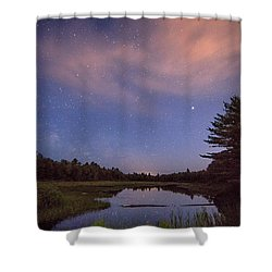 Night Sky Over Maine Shower Curtain