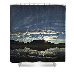 Night Sky Panorama Shower Curtain