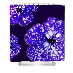 Night Sky Petunias Shower Curtain by Tara Hutton