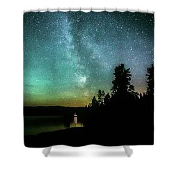 Night Sky Shower Curtain by Rose-Marie Karlsen