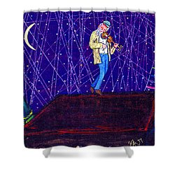 Night Song  Shower Curtain