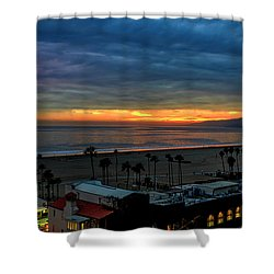 Night Tennis Anyone Shower Curtain