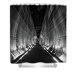 Night Time At Empty Sky Memorial Shower Curtain by Nicki McManus