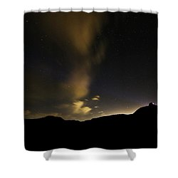 Night Time At Palo Duro Canyon State Park - Texas Shower Curtain