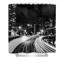 Night Time In The City  Shower Curtain