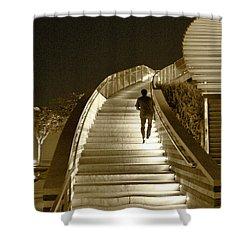 Night Time Stairway Shower Curtain by Ben and Raisa Gertsberg