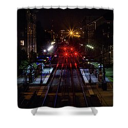 Night Tracks Shower Curtain