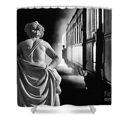 Night Train Shower Curtain by Lyric Lucas