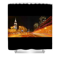 Night Trolley On Time Shower Curtain