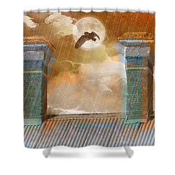 Shower Curtain featuring the photograph Night Vision by Holly Kempe