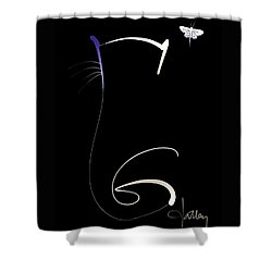 Shower Curtain featuring the mixed media Moonlight Rendezvous by Larry Talley