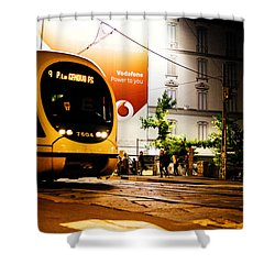 Night Walk In Milan Shower Curtain