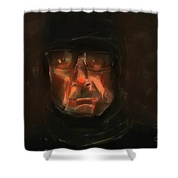 Night Watch Shower Curtain by Jim Vance