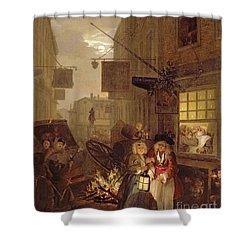 Night Shower Curtain by William Hogarth