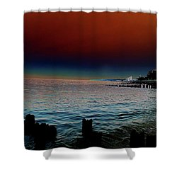 Night Winds And Waves Shower Curtain