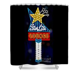Nightclub Sign Starlite Lounge Shower Curtain