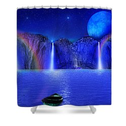 Shower Curtain featuring the photograph Nightdreams by Bernd Hau