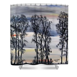 Shower Curtain featuring the painting Nightfall Approaching by Marilyn  McNish