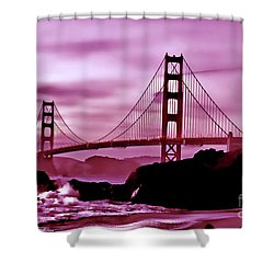Nightfall At The Golden Gate Shower Curtain