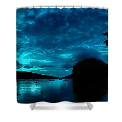 Nightfall In Mauritius Shower Curtain
