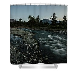 Nightfall In Montana Shower Curtain