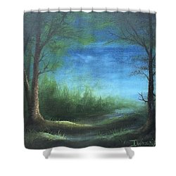 Nightfall In The Boggs  Shower Curtain
