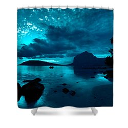 Nightfall Near Le Morne Shower Curtain