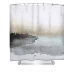 Nightfall On The Lake  Shower Curtain