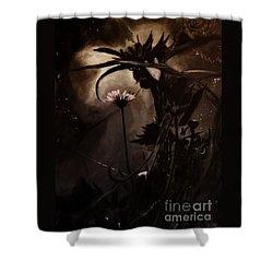 Shower Curtain featuring the painting Nightflower by Vanessa Palomino