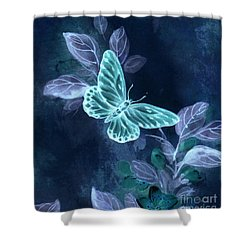 Nightglow Butterfly Shower Curtain