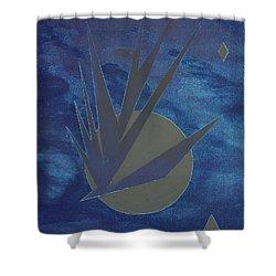 Nighthawke Variation Shower Curtain by J R Seymour
