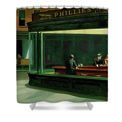 Shower Curtain featuring the photograph Nighthawks by Sean McDunn